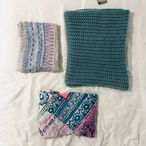 Assorted Infinity Scarves Lot Knit, aztec, floral
